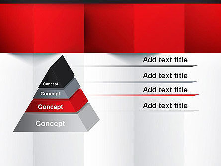 Black Red and White Geometrical PowerPoint Template Slide 12