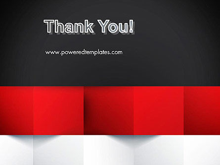 Black Red and White Geometrical PowerPoint Template Slide 20