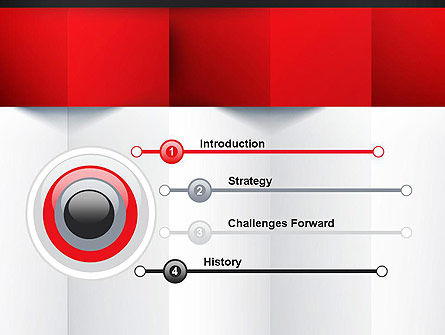 black red and white geometrical powerpoint template