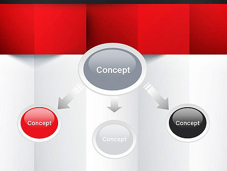 Black Red and White Geometrical PowerPoint Template, Slide 4, 12904, Business — PoweredTemplate.com