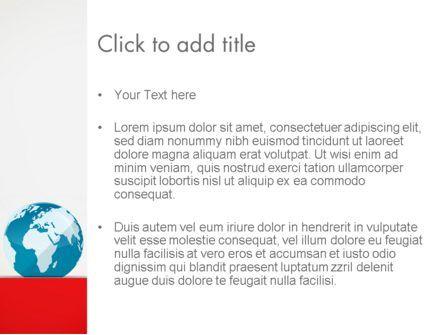 Globe in Flat Style PowerPoint template, Slide 3, 12905, Global — PoweredTemplate.com