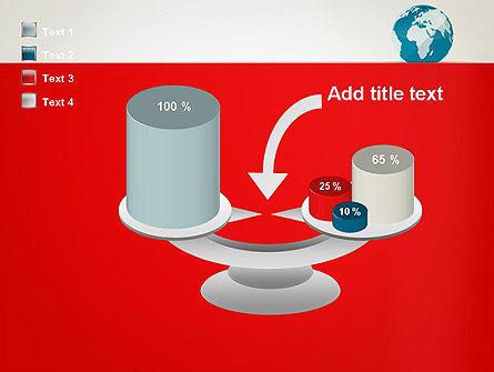 Globe in Flat Style PowerPoint template Slide 10