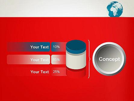 Globe in Flat Style PowerPoint template Slide 11