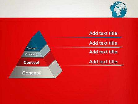 Globe in Flat Style PowerPoint template Slide 12