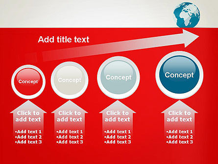 Globe in Flat Style PowerPoint template Slide 13