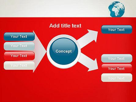 Globe in Flat Style PowerPoint template Slide 14