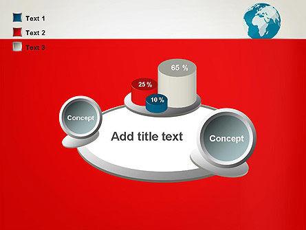 Globe in Flat Style PowerPoint template Slide 16