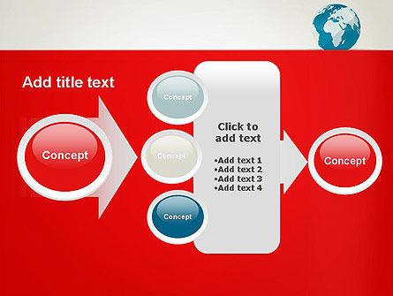Globe in Flat Style PowerPoint template Slide 17