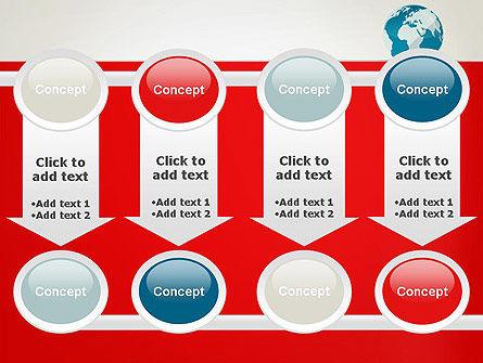 Globe in Flat Style PowerPoint template Slide 18