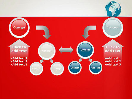 Globe in Flat Style PowerPoint template Slide 19