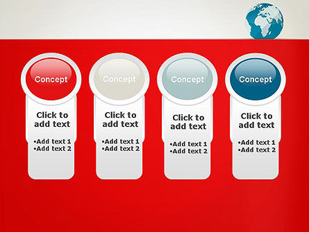 Globe in Flat Style PowerPoint template Slide 5