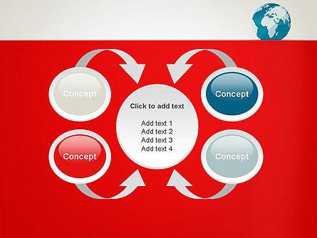Globe in Flat Style PowerPoint template Slide 6