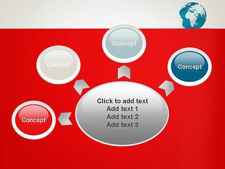 Globe in Flat Style PowerPoint template Slide 7