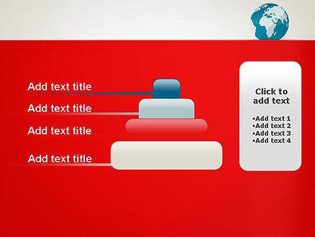 Globe in Flat Style PowerPoint template Slide 8