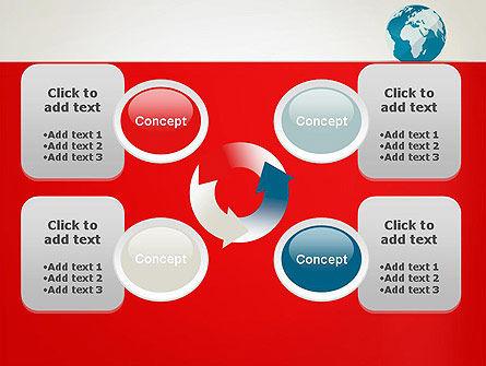 Globe in Flat Style PowerPoint template Slide 9