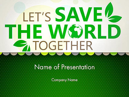 Nature & Environment: Plantilla de PowerPoint - guardar el tema de la naturaleza #12906