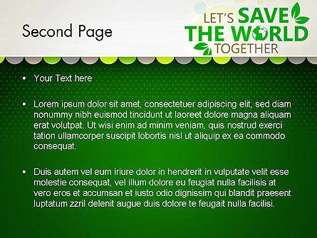 Save Nature Theme PowerPoint Template, Slide 2, 12906, Nature & Environment — PoweredTemplate.com