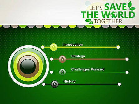 Save Nature Theme PowerPoint Template, Slide 3, 12906, Nature & Environment — PoweredTemplate.com