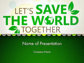 Nature & Environment: Save Nature Theme PowerPoint Template #12906