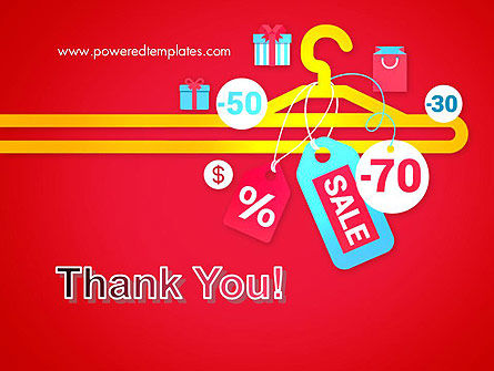 Hanger with Sale Stickers PowerPoint Template Slide 20