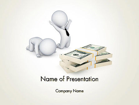 3D Small People and Dollar Packs PowerPoint Template, 12908, 3D — PoweredTemplate.com