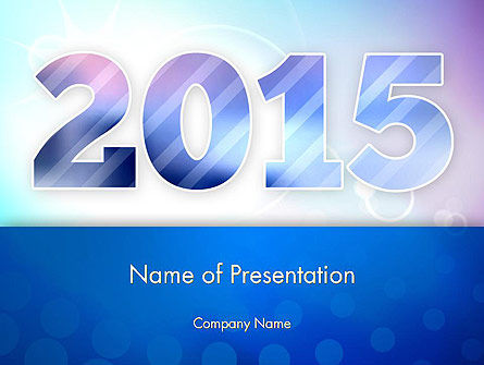 Blue and Purple 2015 PowerPoint Template, 12909, Holiday/Special Occasion — PoweredTemplate.com