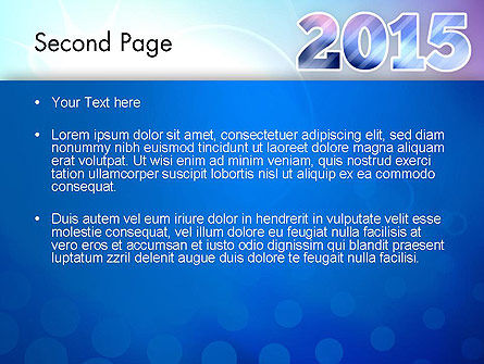 Blue and Purple 2015 PowerPoint Template, Slide 2, 12909, Holiday/Special Occasion — PoweredTemplate.com