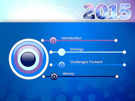 Blue and Purple 2015 PowerPoint Template, Slide 3, 12909, Holiday/Special Occasion — PoweredTemplate.com