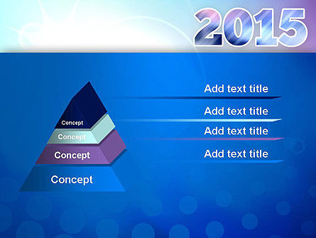 Blue and Purple 2015 PowerPoint Template, Slide 4, 12909, Holiday/Special Occasion — PoweredTemplate.com