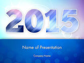 Holiday/Special Occasion: Blue and Purple 2015 PowerPoint Template #12909