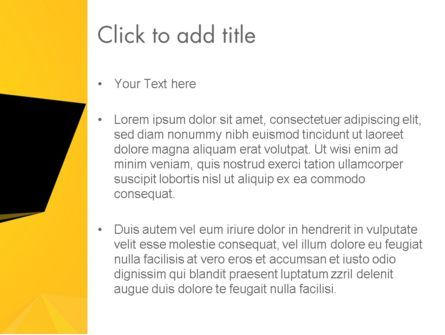 Geometric Black and Yellow PowerPoint Template, Slide 3, 12910, Business — PoweredTemplate.com
