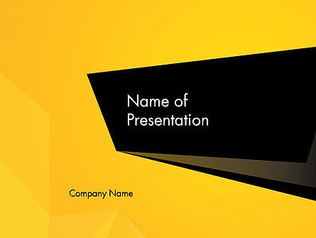 Business: Modelo do PowerPoint - geométrico preto e amarelo #12910