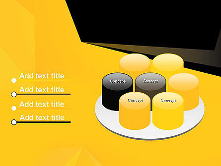 Geometric Black and Yellow PowerPoint Template Slide 12