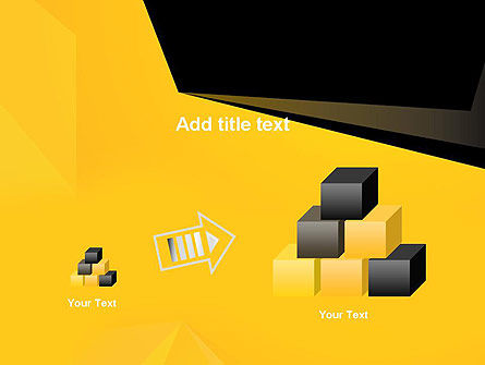 Geometric Black and Yellow PowerPoint Template Slide 13