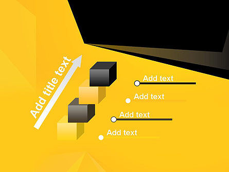 Geometric Black and Yellow PowerPoint Template Slide 14