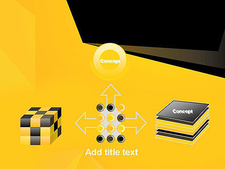 Geometric Black and Yellow PowerPoint Template Slide 19