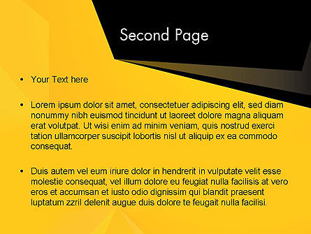 Geometric Black and Yellow PowerPoint Template, Slide 2, 12910, Business — PoweredTemplate.com