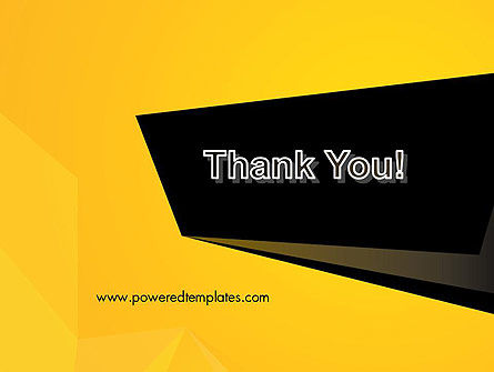 Geometric Black and Yellow PowerPoint Template Slide 20