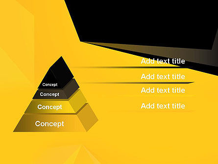 Geometric Black and Yellow PowerPoint Template, Slide 4, 12910, Business — PoweredTemplate.com