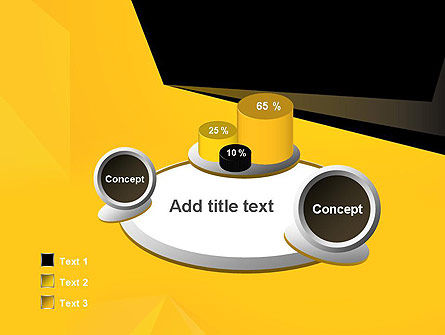 Geometric Black and Yellow PowerPoint Template Slide 6