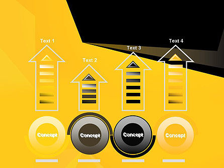 Geometric Black and Yellow PowerPoint Template Slide 7