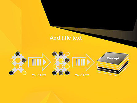 Geometric Black and Yellow PowerPoint Template Slide 9