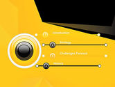 Geometric Black and Yellow PowerPoint Template#3