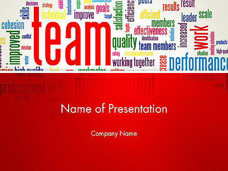 Team Word Cloud PowerPoint Template, 12911, Careers/Industry — PoweredTemplate.com
