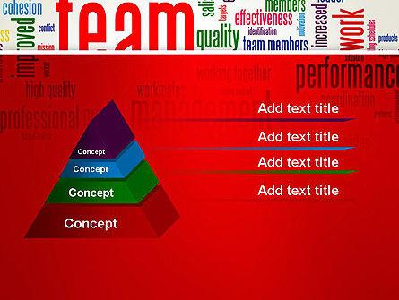 Team Word Cloud PowerPoint Template Slide 12