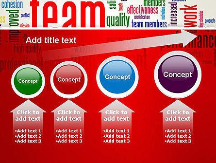 Team Word Cloud PowerPoint Template Slide 13