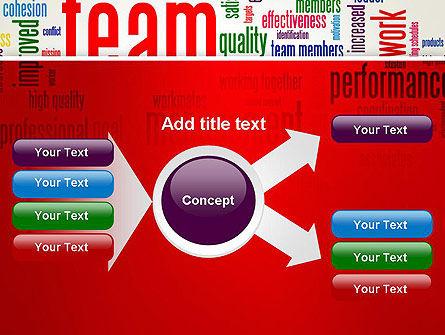 Team Word Cloud PowerPoint Template Slide 14