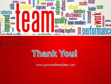 Team Word Cloud PowerPoint Template Slide 20