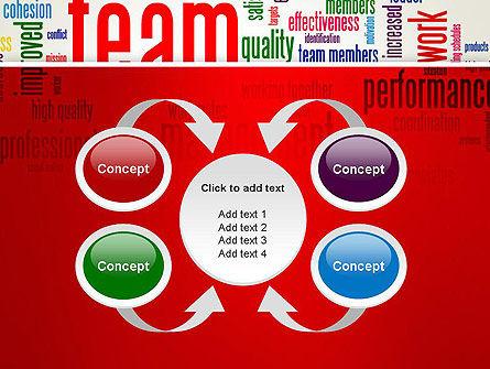Team Word Cloud PowerPoint Template Slide 6