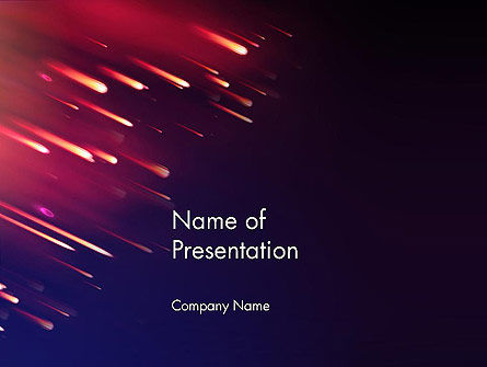 Meteor Rain PowerPoint Template, 12912, Technology and Science — PoweredTemplate.com